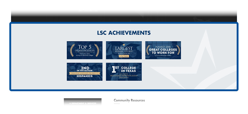 screenshot of achievements section
