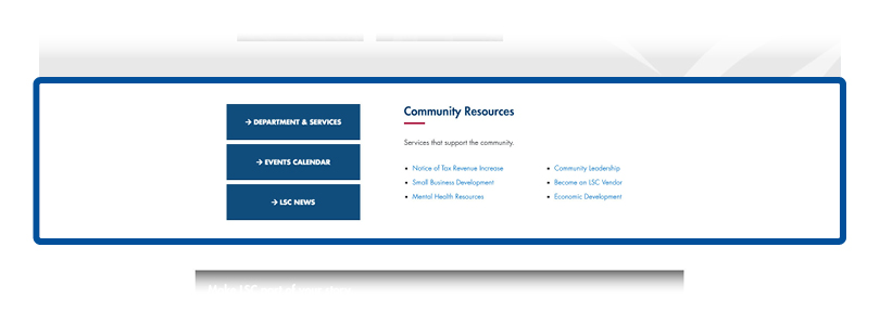 screenshot of resources section