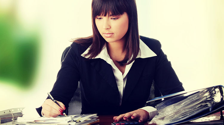 photo of woman working in accounting
