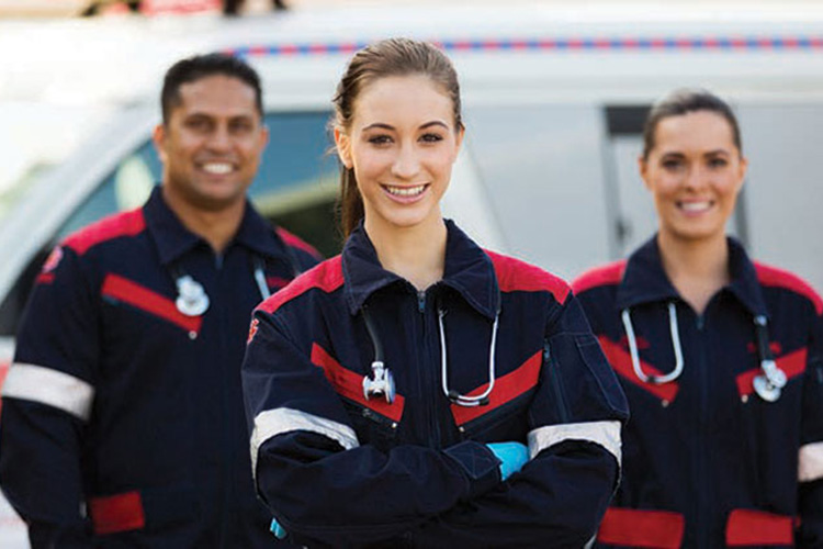Photo of a group of Emergency Medical Technicians