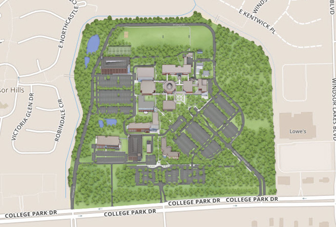 montgomery college campus map Lsc Montgomery Maps montgomery college campus map