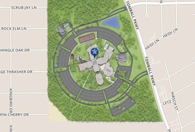 lone star campus map Lsc Tomball Maps lone star campus map