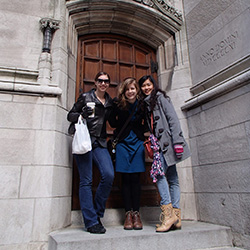 photo of honors college students in new york