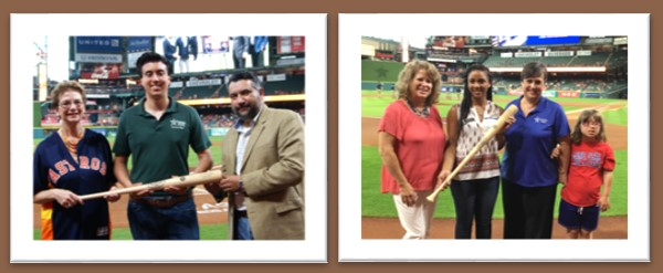 Scholarship recipients being honored at Astros game
