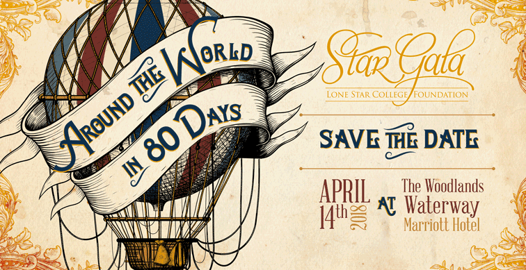 "StarGala 2018 ""Around the World in 80 Days"" logo"
