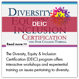 The Diversity, Equity & Inclusion Certification (DEIC) program offers interactive workshops and experiential training on issues pertaining to diversity.