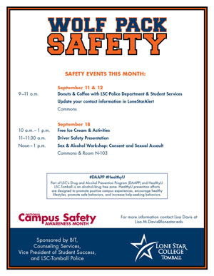 Campus Safety Month Flyer
