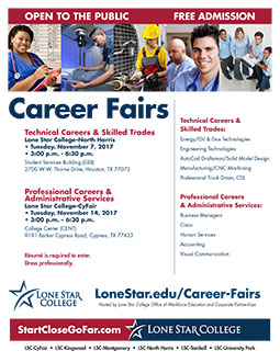 Career Fairs 2017 flyer