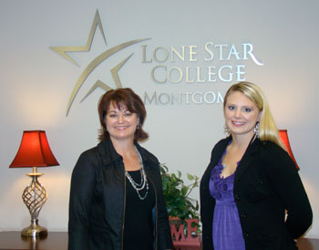 Tracy Gibson (on left) and Miriam Boyer (right) earned merit-based scholarships while completing advanced accounting classes at LSC-Montgomery. Gibson and Boyer will begin the four-part CPA exam in early 2012 and ultimately, become licensed as CPAs.