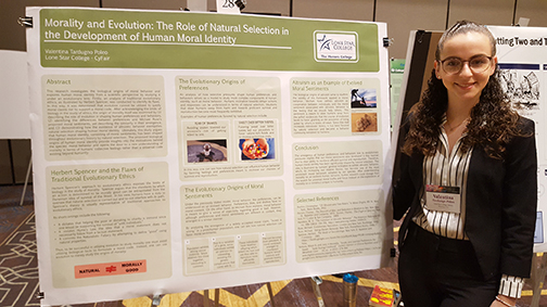 The 2019 Sloane Prize for Undergraduate Research from the National Collegiate Honors Council was awarded to Lone Star College student Valentina Tardugno Poleo.