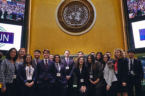 Lone Star College students took top honors at the recent National Model United Nations conference including the Outstanding Delegation award.