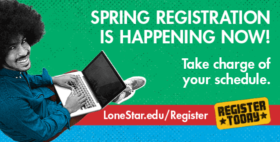 Spring registration is happening now! Take charge of your schedule.