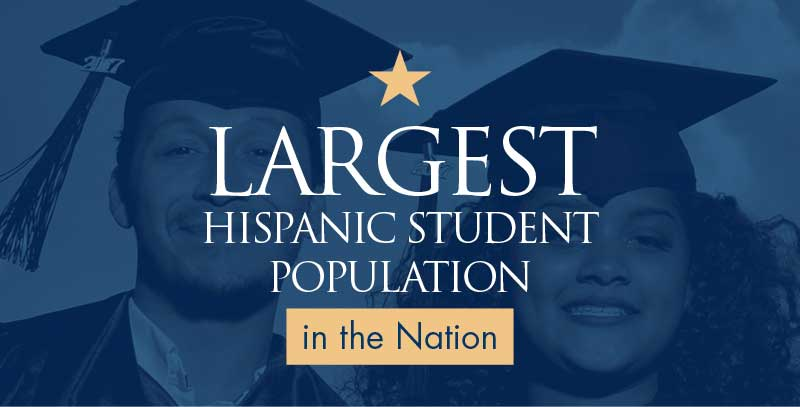 Largest Hispanic student population in the nation.