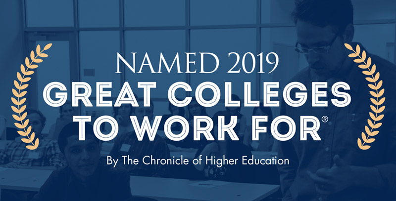 Named 2017 great colleges to work for by the Chronicle of Higher Education.