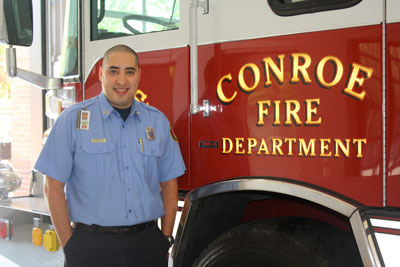 But the real chief among the students is Marco Guillen, a firefighter with the City of Conroe who is LSC-Montgomery's first student to complete an associate of applied science degree in fire science technology. The 31-year-old from Spring received his degree in August.