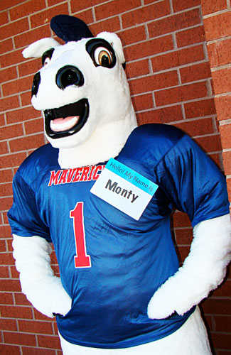 New LSC-Montgomery mascot, Monty the Maverick!