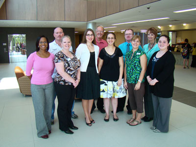 10 of the 12 new full-time faculty members of LSC-Montgomery.