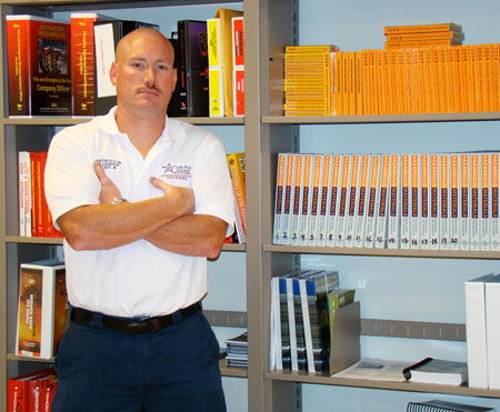 David Griffin, new director of the college�s flourishing, two-year-old fire science program