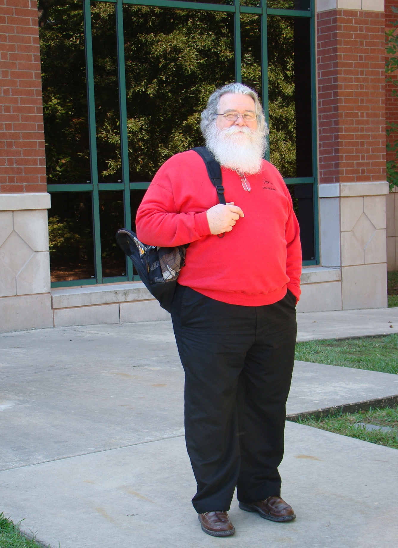 Student Bill Porter, known as �Santa Bill,� traded in his toy sack for a back pack to take classes this fall at Lone Star College-Montgomery.  �Santa Bill� is working toward a degree in graphic arts.