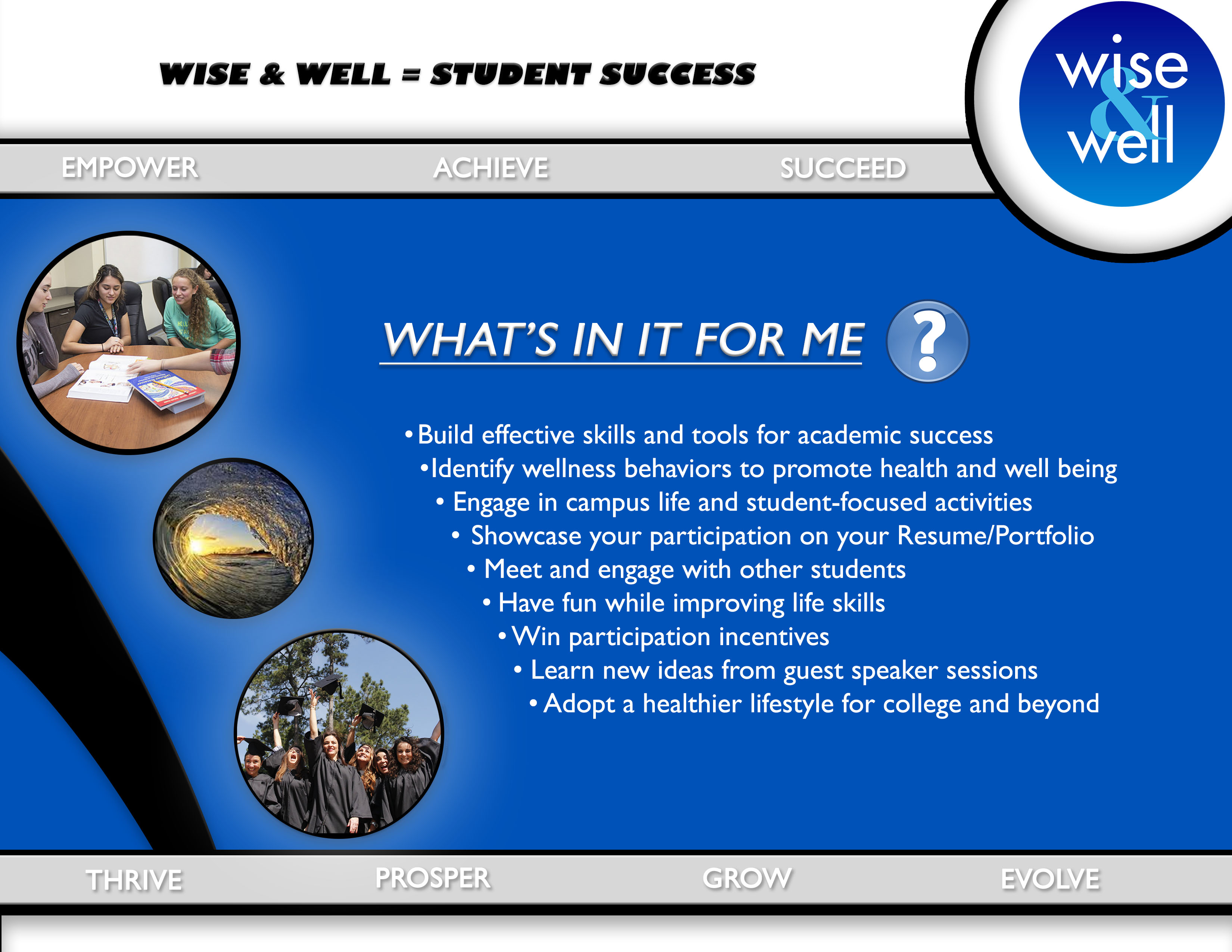 Marketing flyer for Wise & Well program.